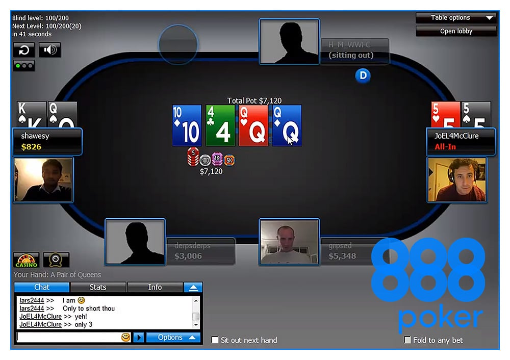 888покер с веб-камерой