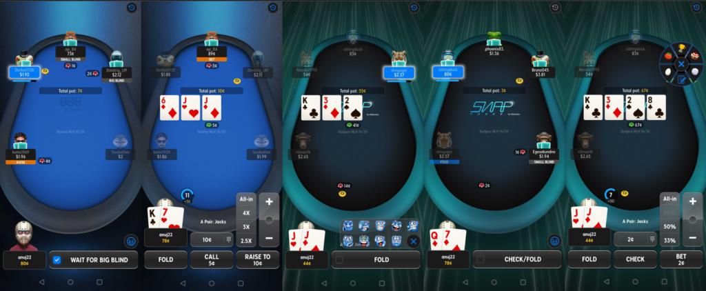 Вид столов в обновленном клиенте 888Poker