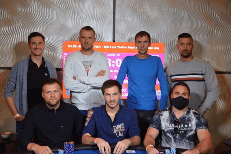 Финальный стол Главного Турнира 888poker LIVE Tallinn