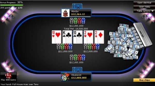 3. 888poker final table